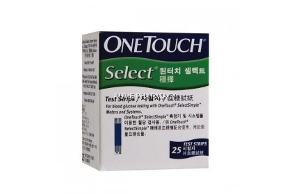 ONETOUCH SELECT TEST STRIPS 25´S