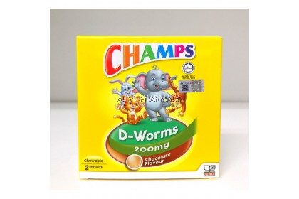 CHAMPS D-WORMS x2's (chewable)