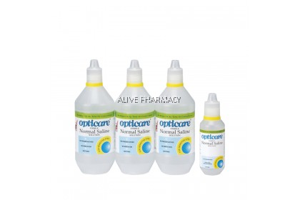 Opticare Sterile Normal Saline (3x500ml + 120ml)