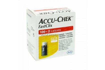 Accu-Chek FastClix 100+2 Lancets (17 Drums)