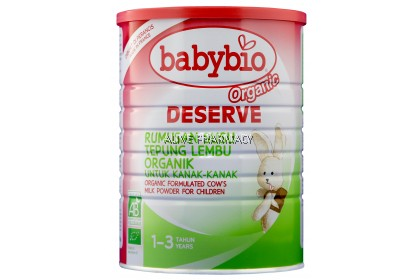 BABYBIO BABYNAT ORGANIC DESERVE COW MILK 900G (1-3YO) (Exp date 1/8/2020)