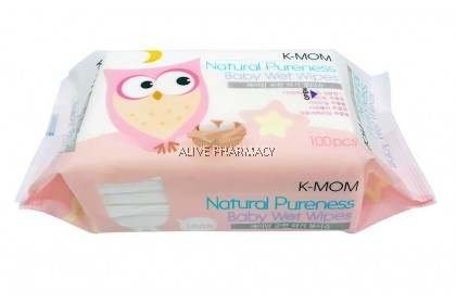 K-MOM NATURAL PURENESS BABY WET WIPES 100'S