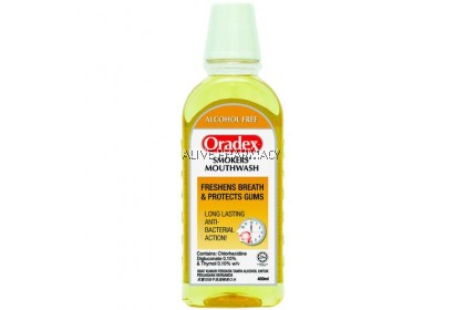 ORADEX SMOKERS MOUTH RINSE 400ML
