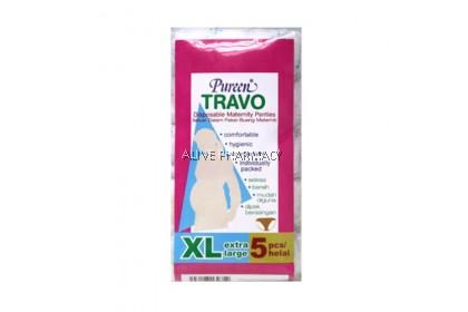 PUREEN TRAVO MATERNITY PANTY XL 5PCS