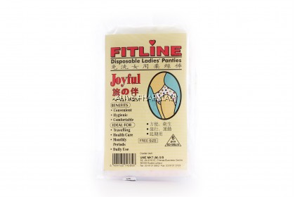 FITLINE DISPOSABLE PANTIES LARGE 6'S (Large Size)
