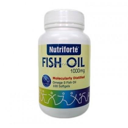 NUTRIFORTE FISH OIL 1000MG 100'S