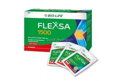 BIO LIFE FLEXSA 1500MG GLUCOSAMINE (30'S X2) FREE SHAKER