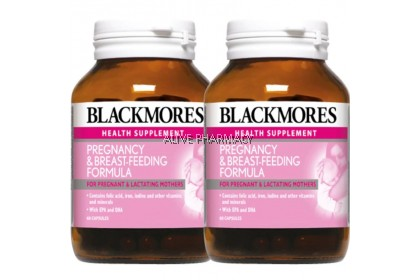BLACKMORES PREGNANCY & BREAST FEEDING FORMULA 60'S X 2