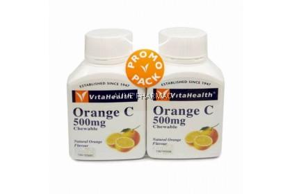 VITAHEALTH ORANGE C CHEWABLE TAB 500MG 2X100S