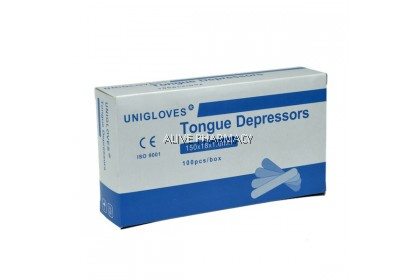 UNIGLOVES WOODEN TONGUE DEPRESSORS 100'S