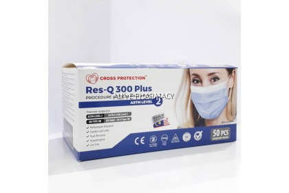 Cross Protection Res-Q 300plus ASTM LEVEL 2 3ply Medical Face Mask