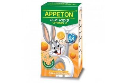 Appeton A-Z Vitamin C Orange 100'S